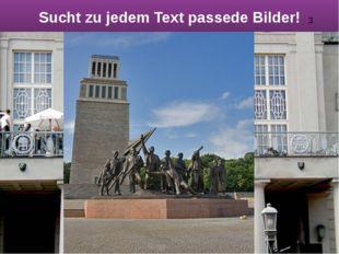 Sucht zu jedem Text passedе Bilder! 3