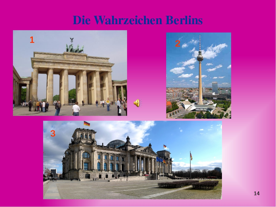 Die Wahrzeichen Berlins 1 2 3