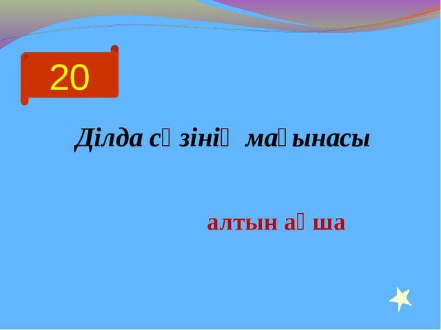 20 Ділда сөзінің мағынасы алтын ақша
