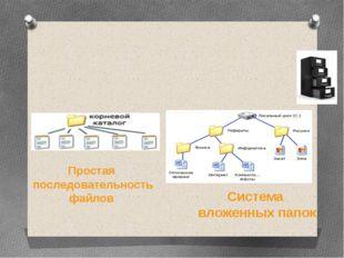 Путь к файлу – последовательность папок, начиная от самой верхней (корневой)