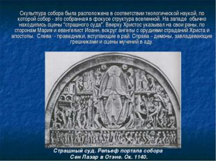 Скульптура собора была расположена в соответствии теологической наукой, по к