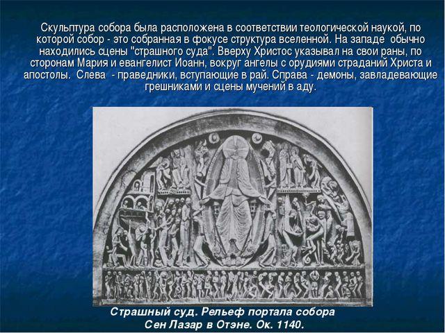 Скульптура собора была расположена в соответствии теологической наукой, по к...