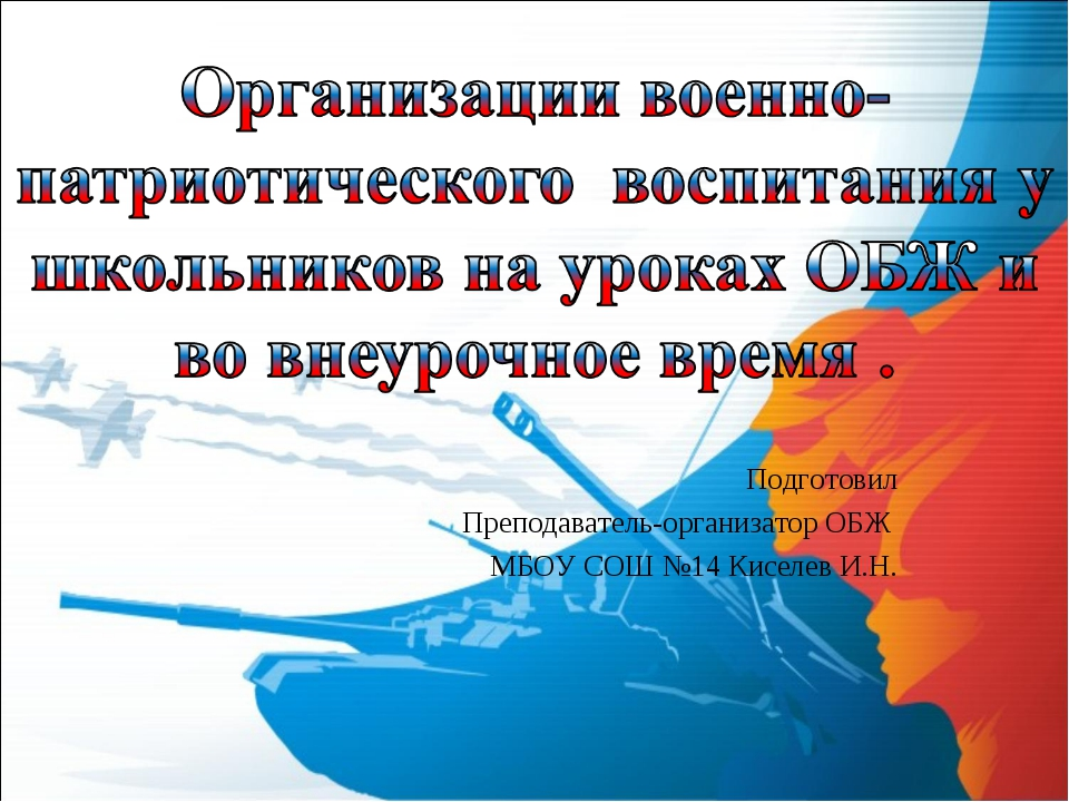 Подготовил Преподаватель-организатор ОБЖ МБОУ СОШ №14 Киселев И.Н.