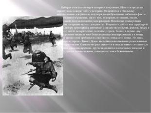 Отбирая и систематизируя материал для романа, Шолохов проделал огромную и сл