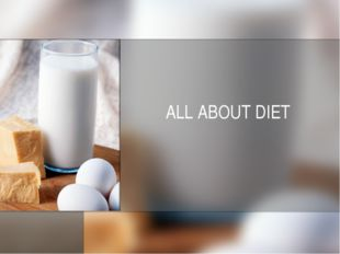 ALL ABOUT DIET