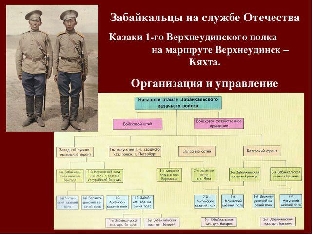 Забайкальцы на службе Отечества Казаки 1-го Верхнеудинского полка на маршруте...