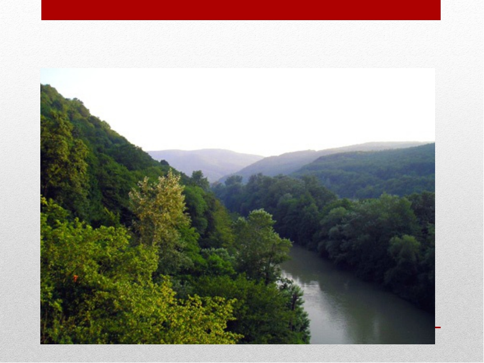 Река Псекупс в Горячем Ключе