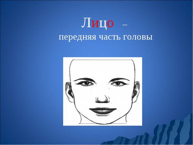 Лицо́ – передняя часть головы
