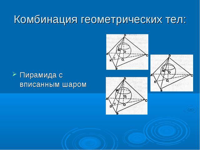 Комбинация геометрических тел: Пирамида с вписанным шаром