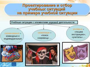 Проектирование и отбор учебных ситуаций на примере учебной ситуации Учебные с