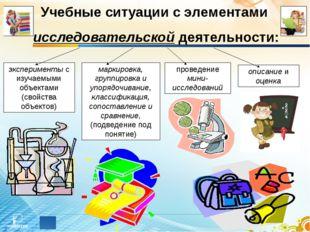 Учебные ситуации с элементами исследовательской деятельности: эксперименты с