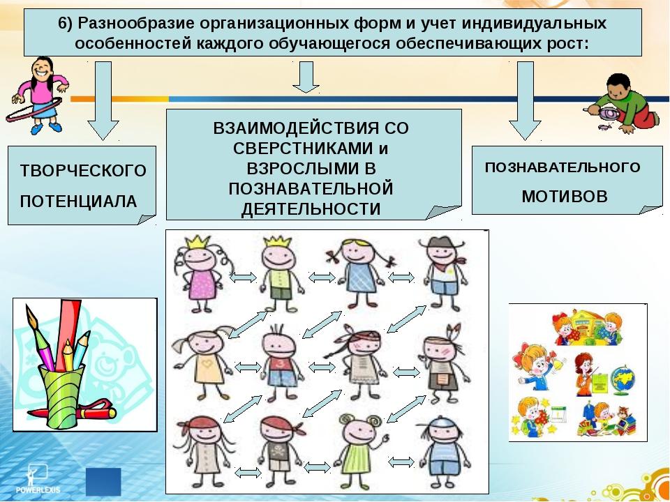 6) Разнообразие организационных форм и учет индивидуальных особенностей каждо...