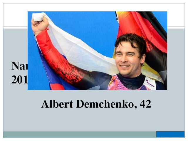 Name the oldest champion of 2014 Olympic Winter Games Albert Demchenko, 42