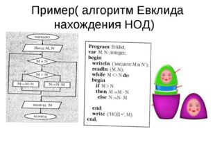 Пример( алгоритм Евклида нахождения НОД)