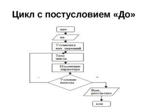 Цикл с постусловием «До»