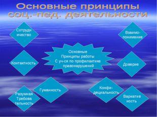 Основные Принципы работы С уч-ся по профилактике правонарушений Сотрудн ичест