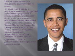 Как член Демократического меньшинства в Конгрессе 109-го созыва, он помог соз