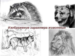 Изображение характера животных