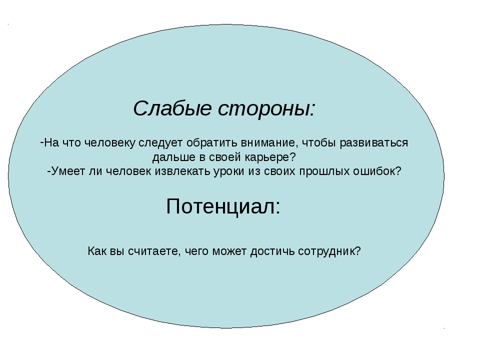 Слабые стороны: На что человеку следует обратить внимание, чтобы развиваться...