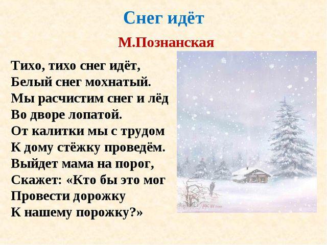 Снег идёт М.Познанская