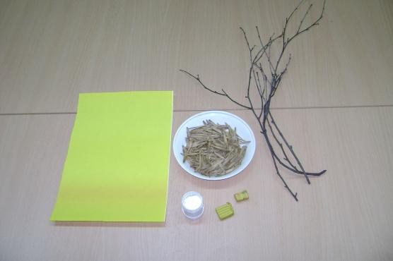 Детские поделки - Букет ромашек коллективная поделка из природного материала