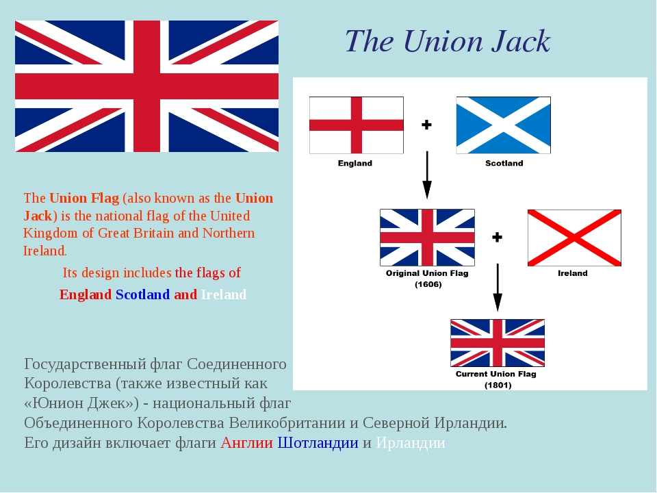 The Union Jack The Union Flag (also known as the Union Jack) is the national...