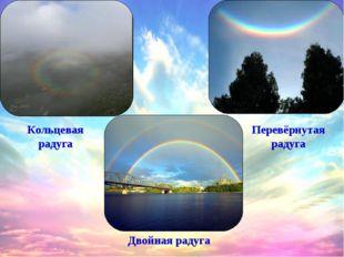 Кольцевая радуга Перевёрнутая радуга Двойная радуга
