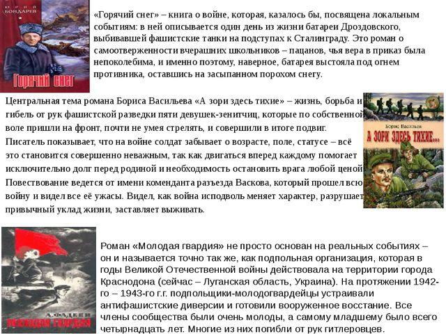 Роман «Молодая гвардия» не просто основан на реальных событиях – он и называе...
