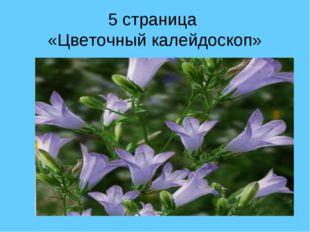 5 страница «Цветочный калейдоскоп»