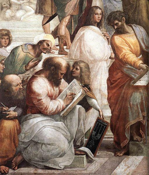 Пифагор на фреске Рафаэля