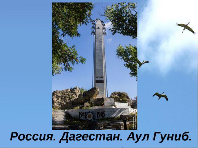 Россия. Дагестан. Аул Гуниб.