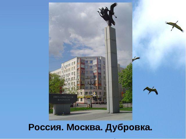 Россия. Москва. Дубровка.