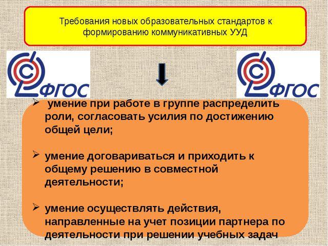 Требования новых образовательных стандартов к формированию коммуникативных УУ...