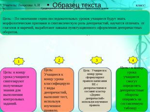 Среднесрочное планирование серии последовательных уроков русского языка. 1 2