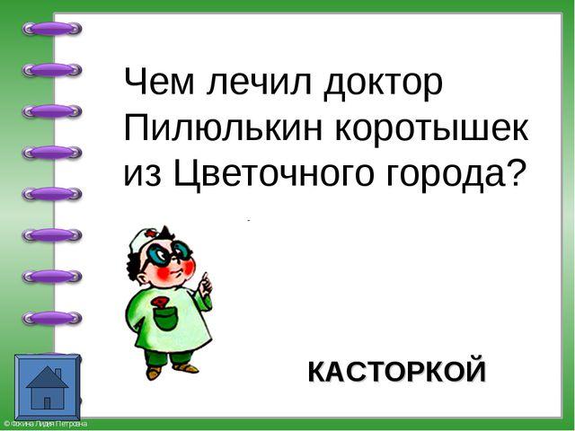 Чем лечил доктор Пилюлькин коротышек из Цветочного города? КАСТОРКОЙ © Фокин...