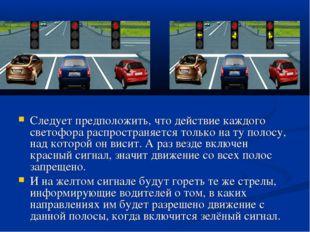 Следует предположить, что действие каждого светофора распространяется только