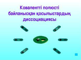 Электролиттік ыдырау нәтижесінде түзілген гидратталған иондардыңдың қысқашади