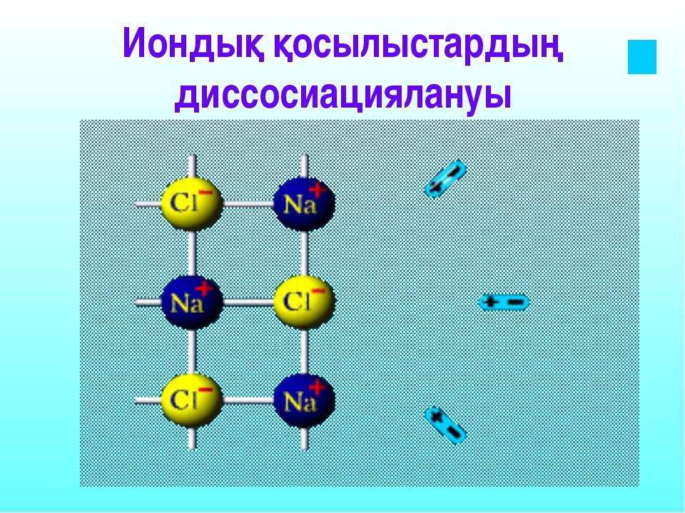 Гидратталған иондар-ерітіндіге өтеді