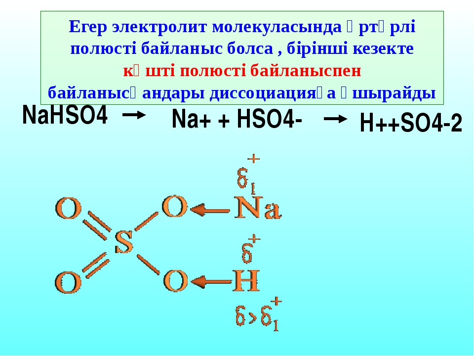 Диссоциацияға ұшыраған молекулалар санының жалпы молекулаларға қатынасы Элект...
