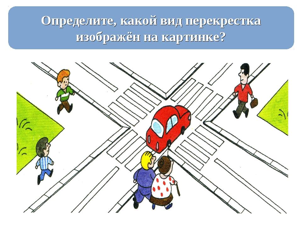 Определите, какой вид перекрестка изображён на картинке?