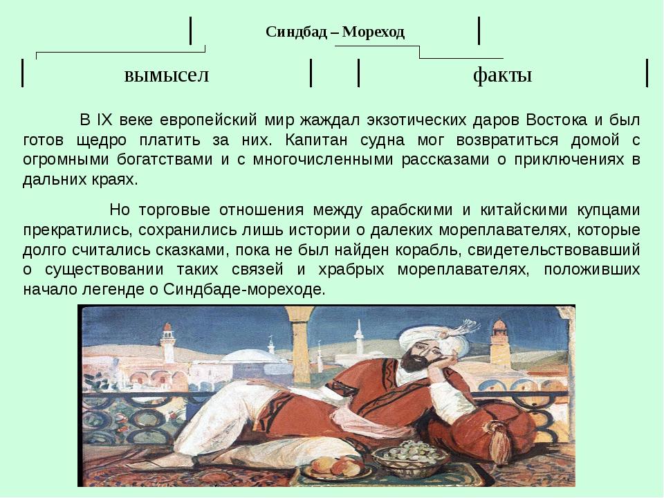 В IX веке европейский мир жаждал экзотических даров Востока и был готов щедр...