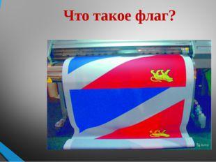 Что такое флаг?