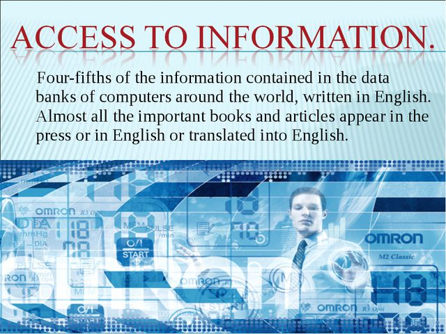 Four-fifths of the information contained in the data banks of computers aroun...