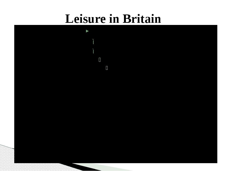 Leisure in Britain