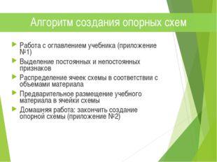Работа с оглавлением учебника (приложение №1) Выделение постоянных и непостоя