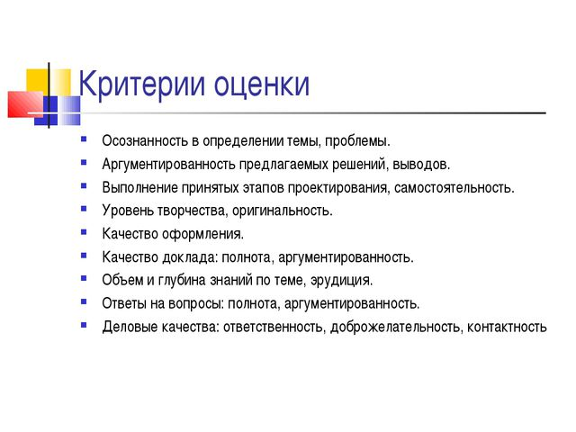 Критерии оценки Осознанность в определении темы, проблемы. Аргументированност...
