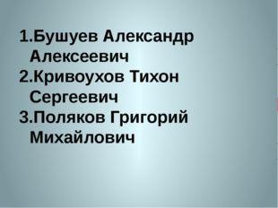 Бушуев Александр Алексеевич Кривоухов Тихон Сергеевич Поляков Григорий Михайл