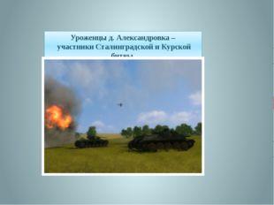 Уроженцы д. Александровка – участники Сталинградской и Курской битвы.