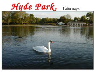 Hyde Park. Гайд парк.