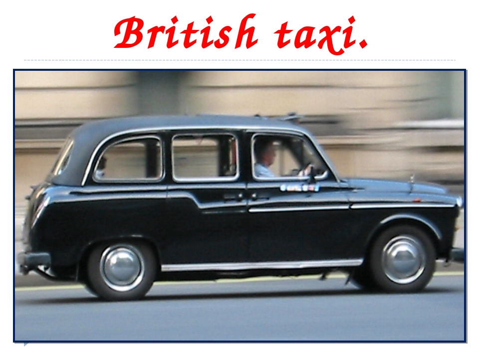 British taxi.